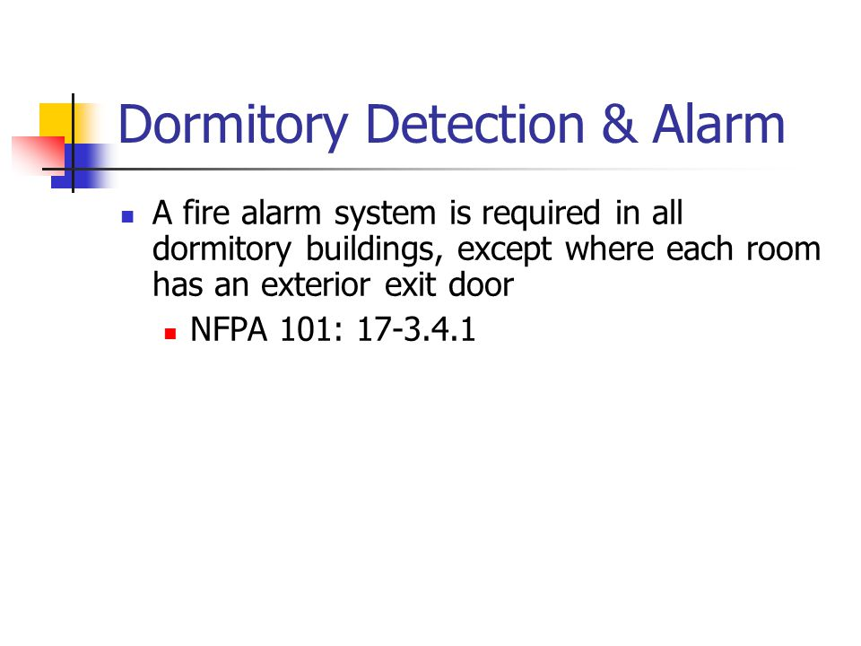 Dormitory Detection & Alarm
