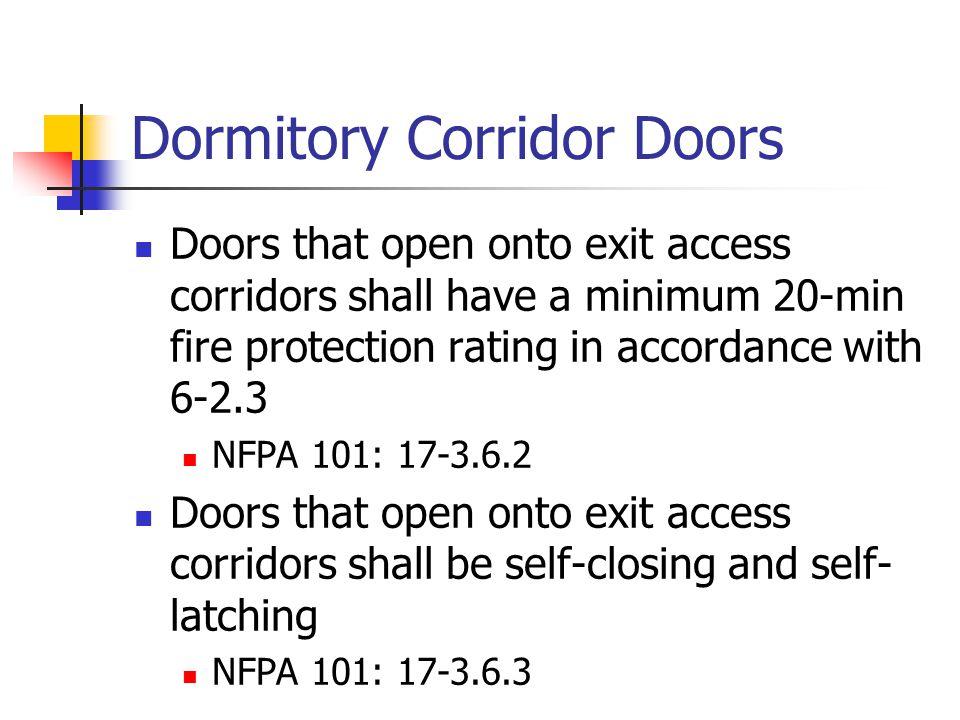 Dormitory Corridor Doors