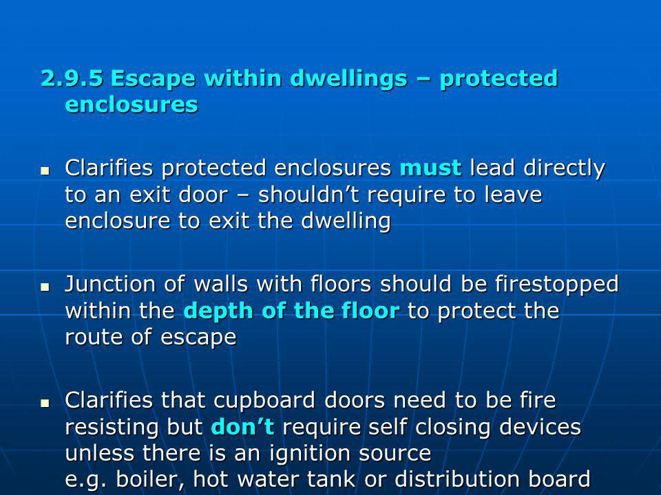 2.9.5 Escape within dwellings – protected enclosures