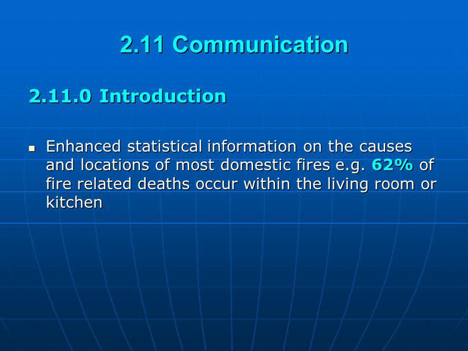 2.11 Communication 2.11.0 Introduction