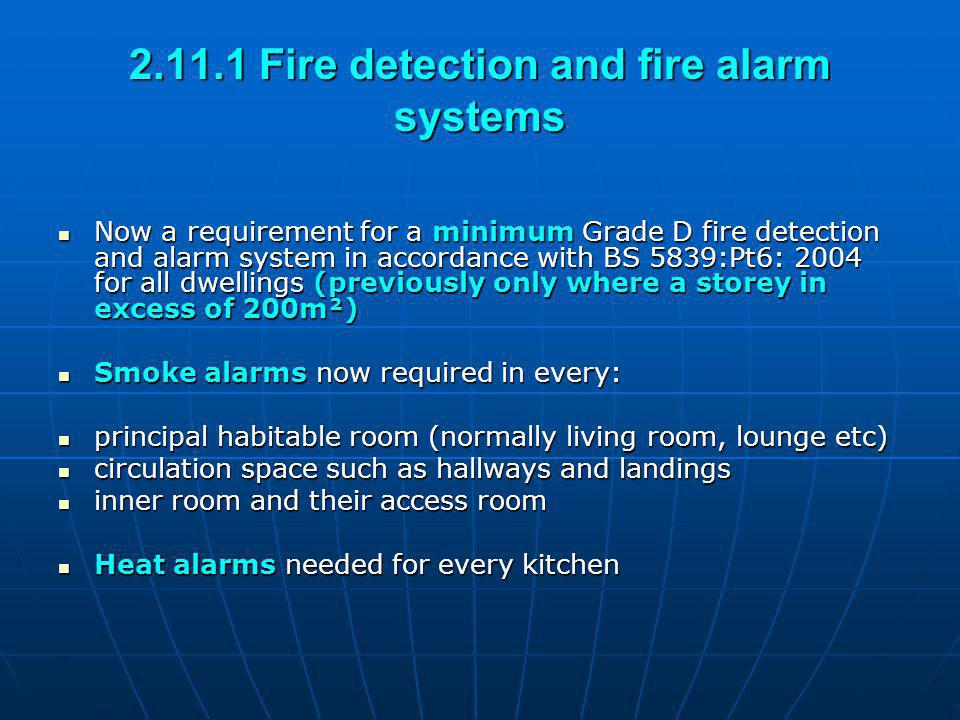 2.11.1 Fire detection and fire alarm systems