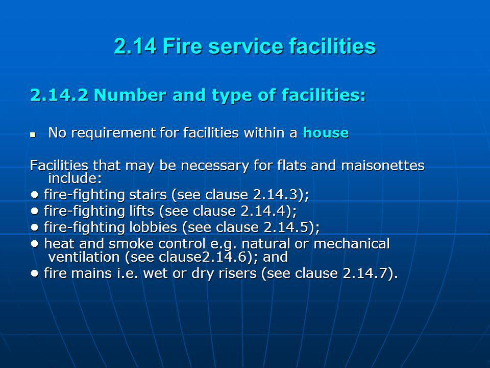 2.14 Fire service facilities