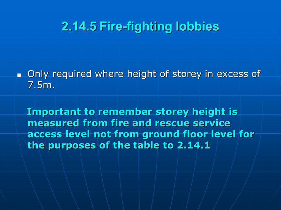 2.14.5 Fire-fighting lobbies