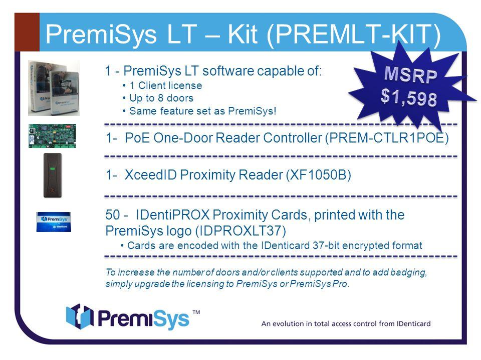 PremiSys LT – Kit (PREMLT-KIT)