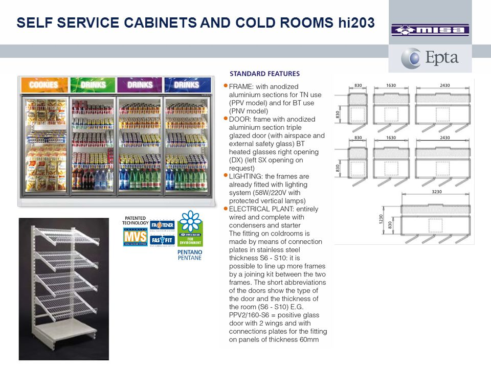 SELF SERVICE CABINETS AND COLD ROOMS hi203