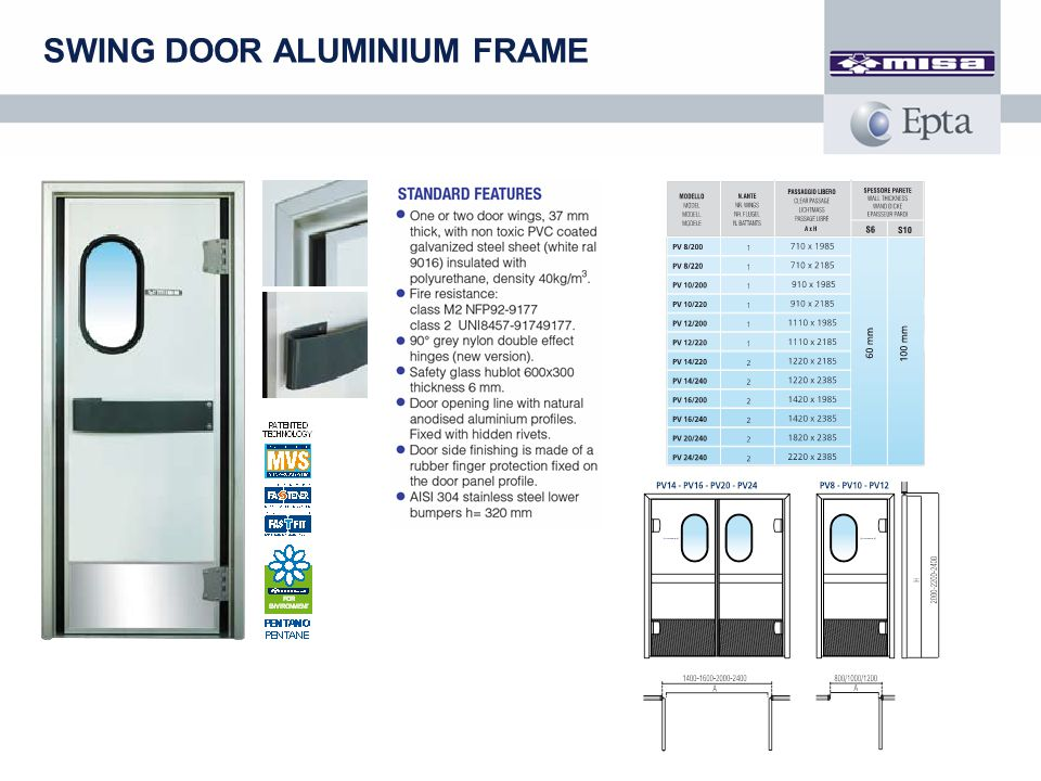 SWING DOOR ALUMINIUM FRAME