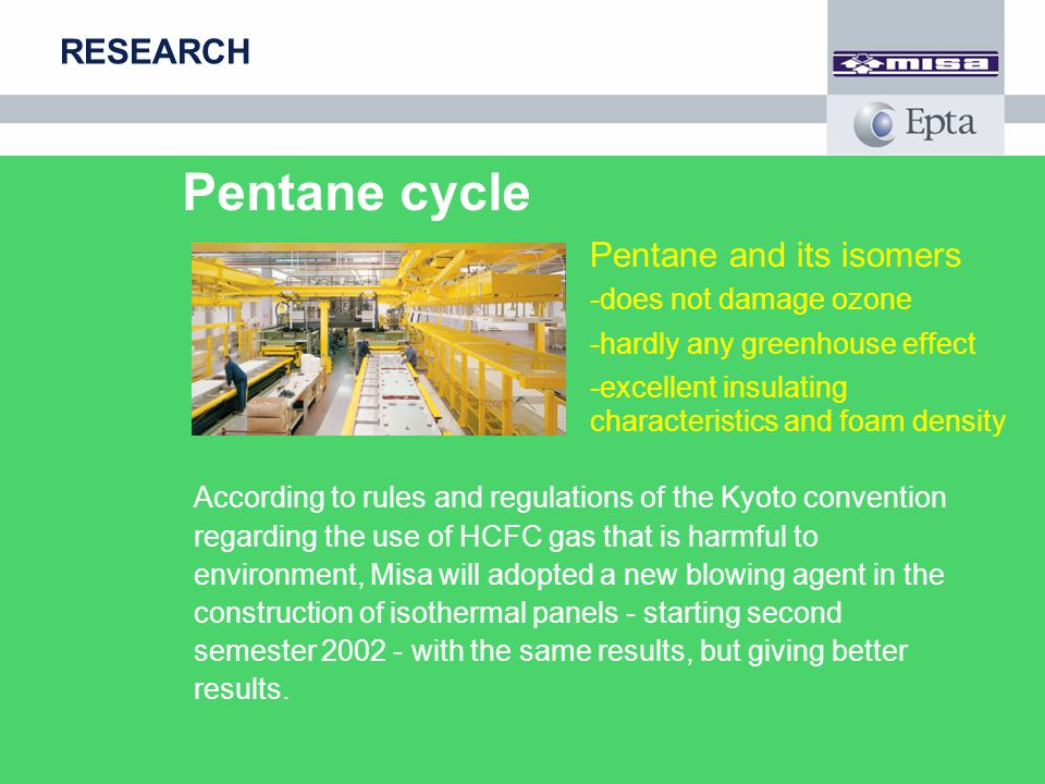 Pentane cycle RESEARCH Pentane and its isomers -does not damage ozone