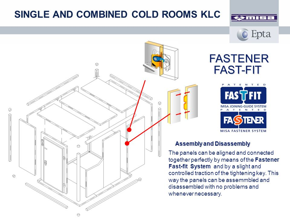 FASTENER FAST-FIT SINGLE AND COMBINED COLD ROOMS KLC