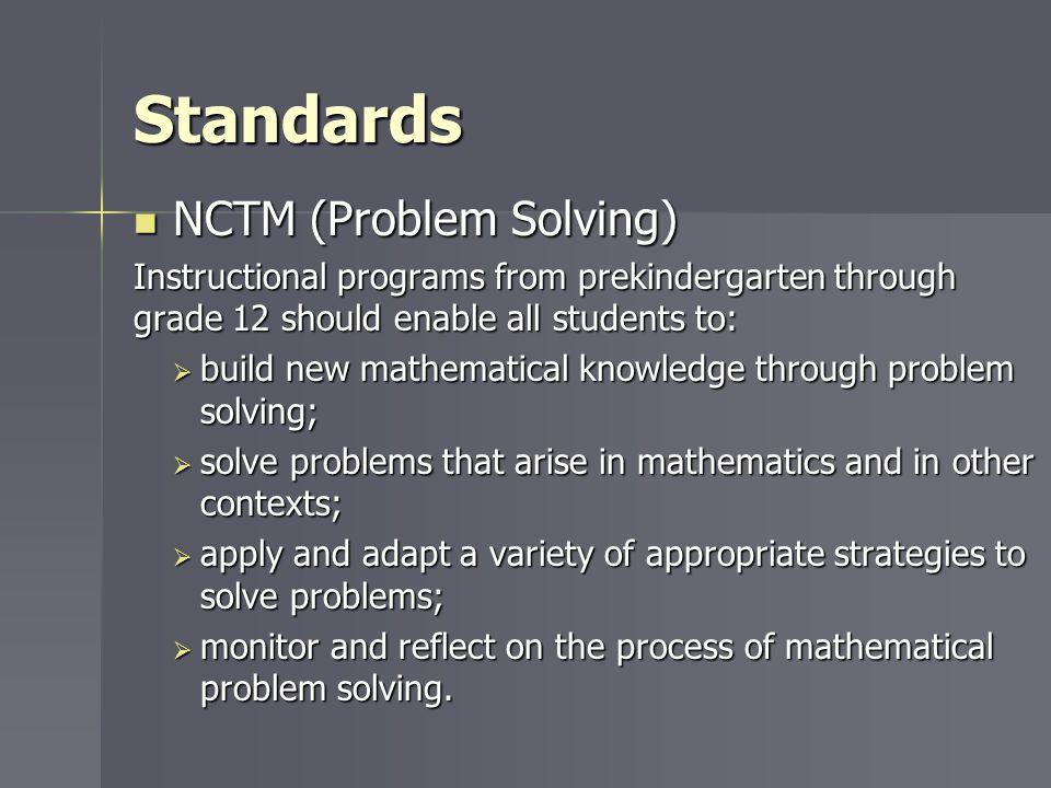 Standards NCTM (Problem Solving)