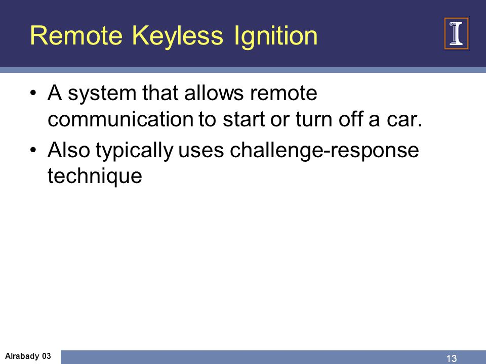 Remote Keyless Ignition