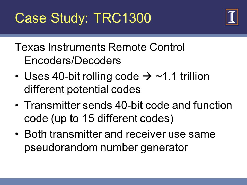 Case Study: TRC1300 Texas Instruments Remote Control Encoders/Decoders
