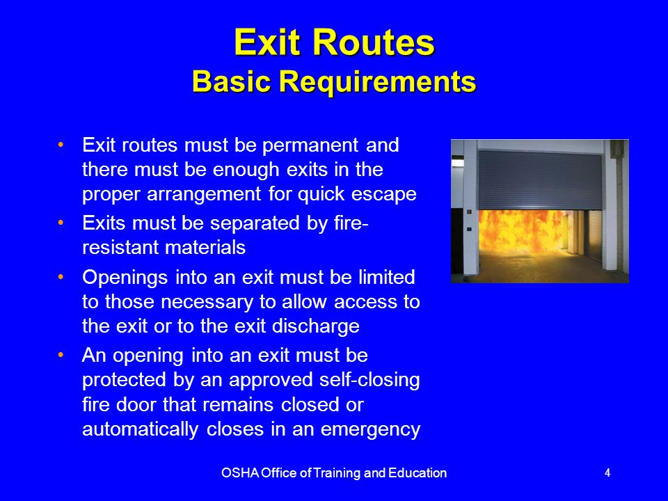 Exit Routes Basic Requirements