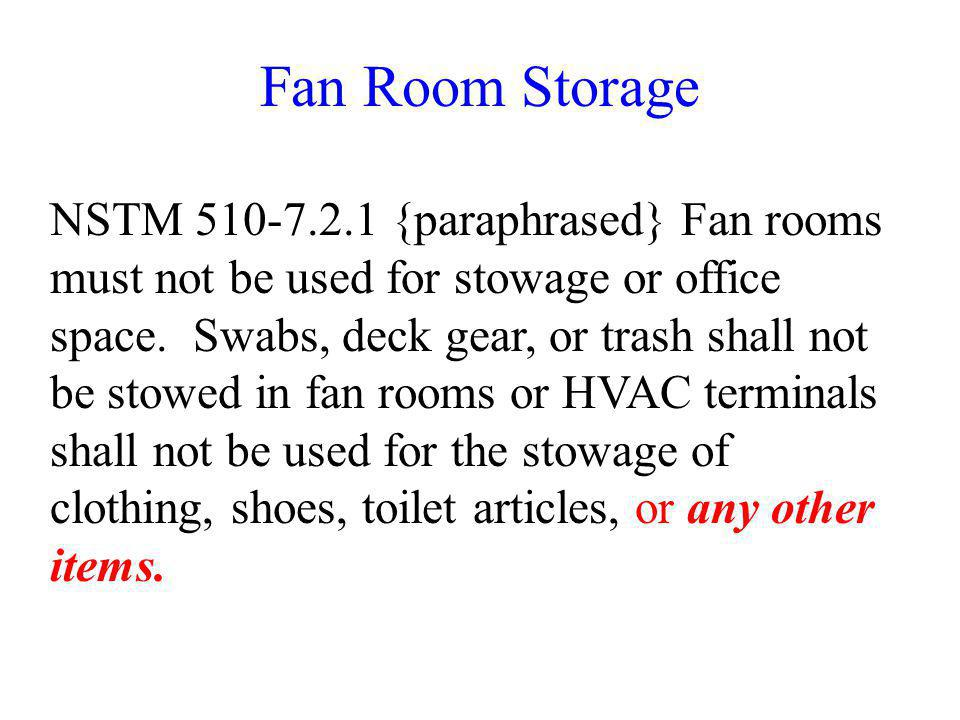 Fan Room Storage