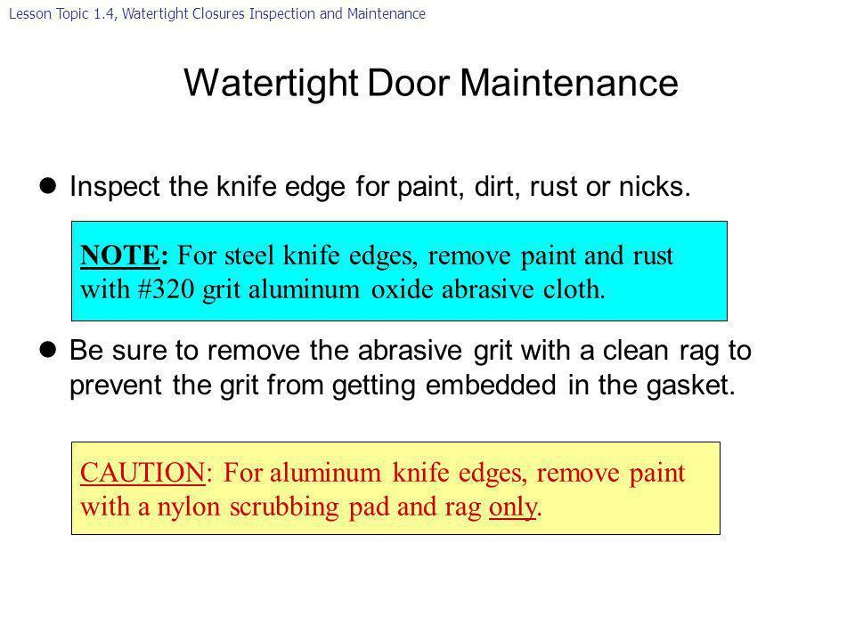 Watertight Door Maintenance