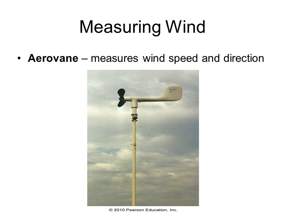 Measuring Wind Aerovane – measures wind speed and direction