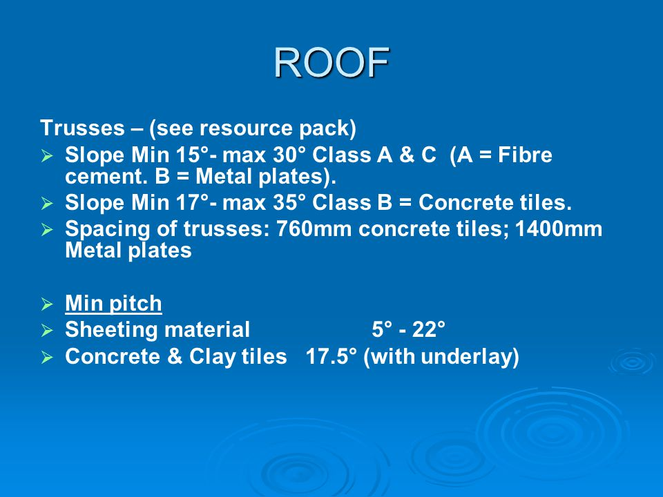 ROOF Trusses – (see resource pack)