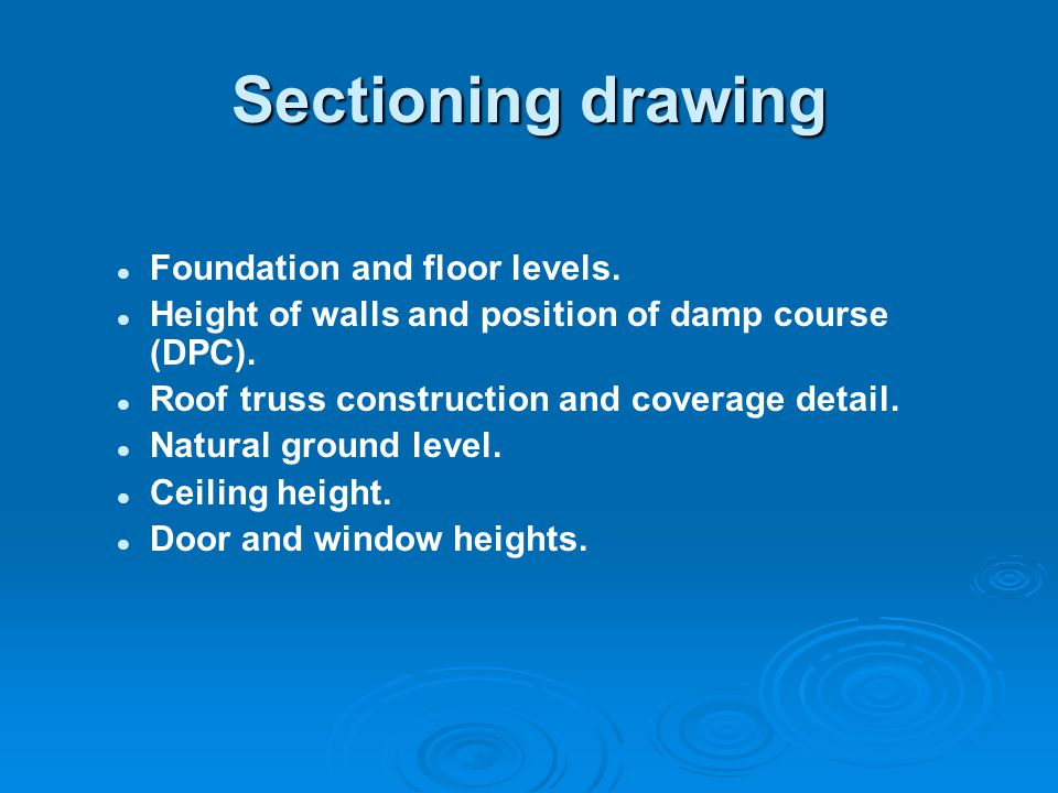 Sectioning drawing Foundation and floor levels.