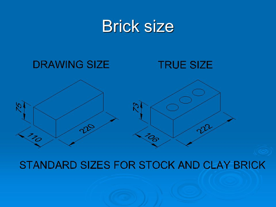 Brick size