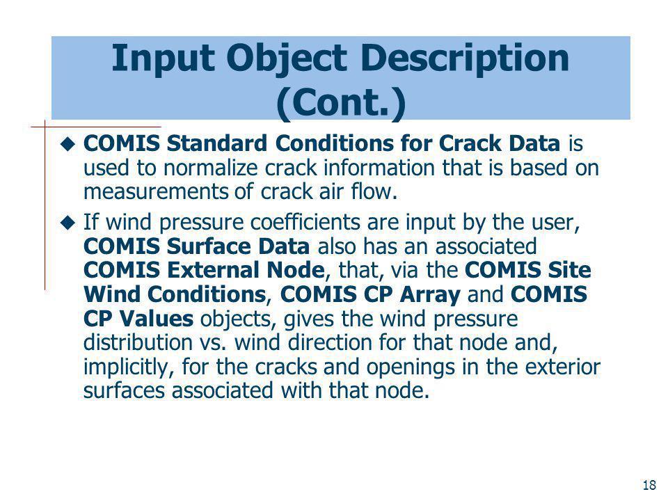 Input Object Description (Cont.)