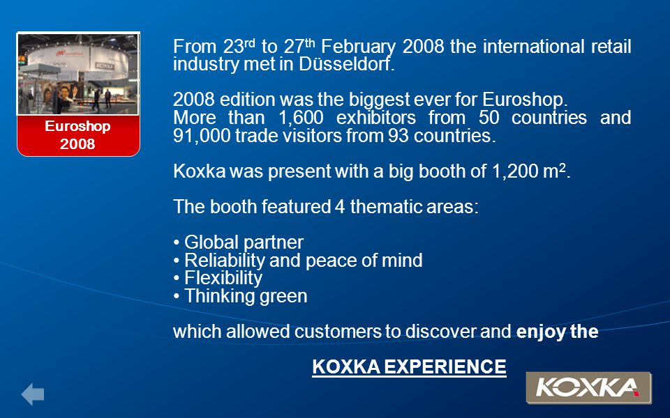 2008 edition was the biggest ever for Euroshop.