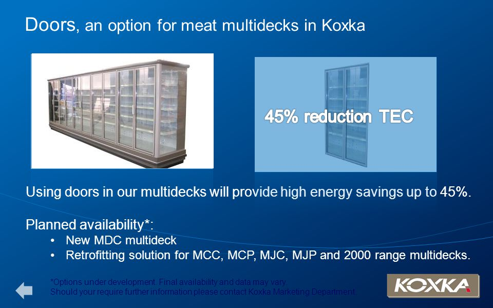 Doors, an option for meat multidecks in Koxka