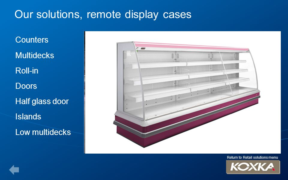 Our solutions, remote display cases