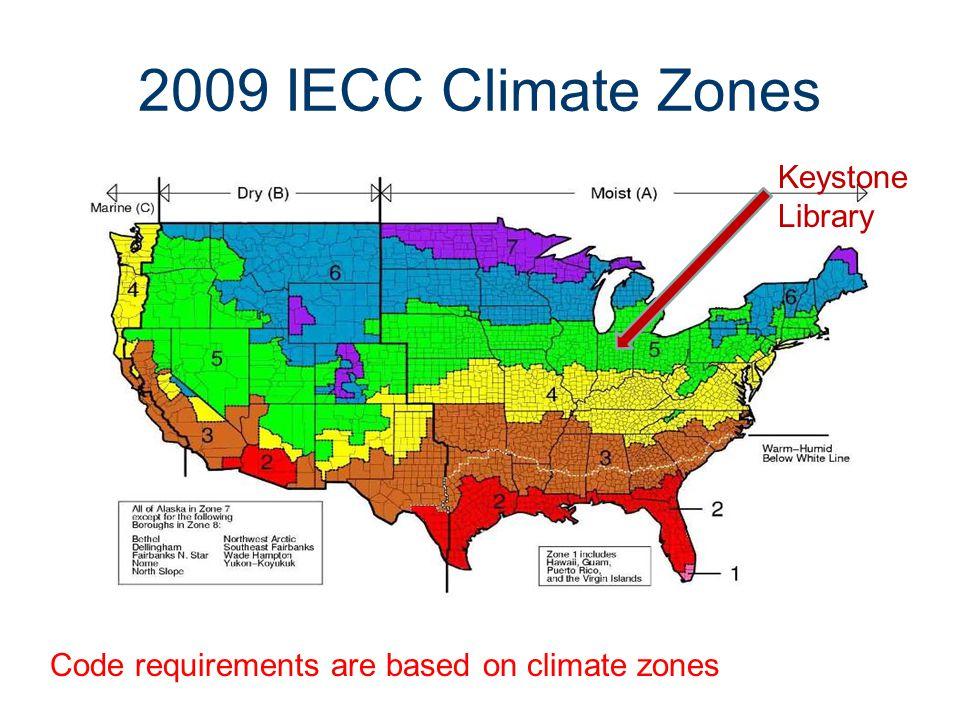 2009 IECC Climate Zones Keystone Library