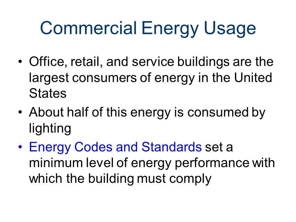 Commercial Energy Usage