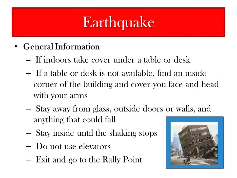 Earthquake General Information