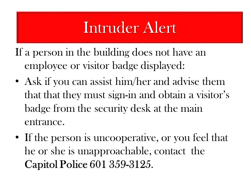 Intruder Alert Intruder Alert