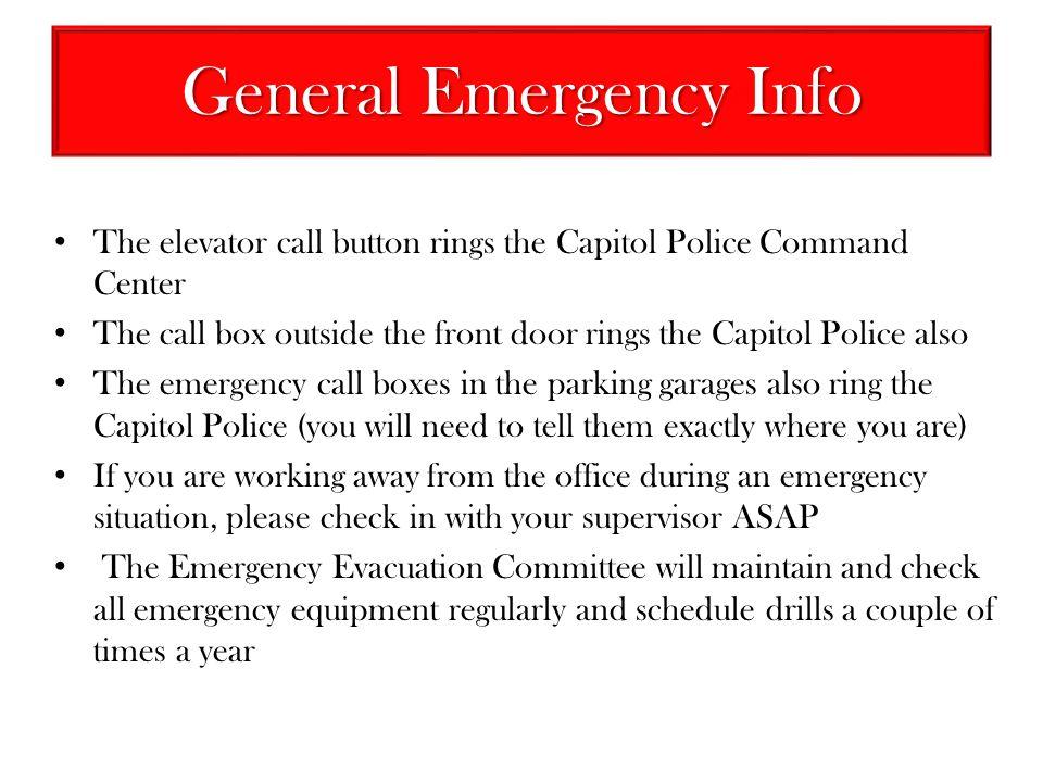 General Emergency Info