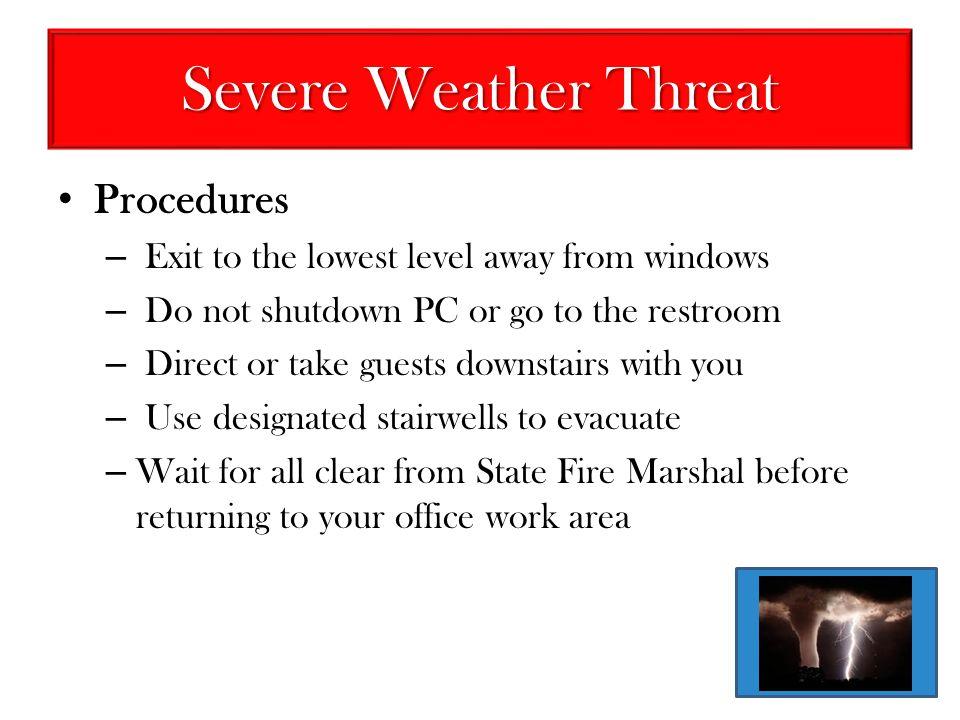 Severe Weather Threat Procedures