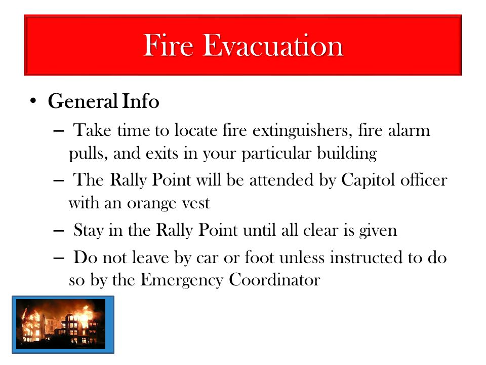 Fire Evacuation General Info
