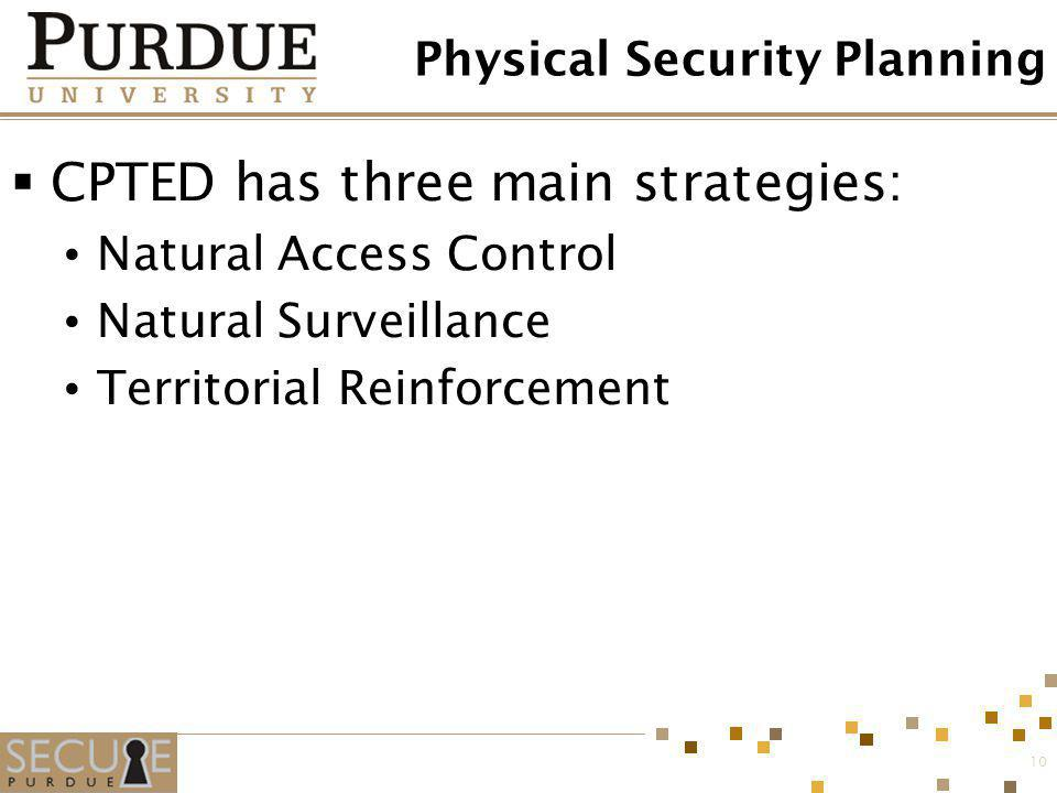 Physical Security Planning