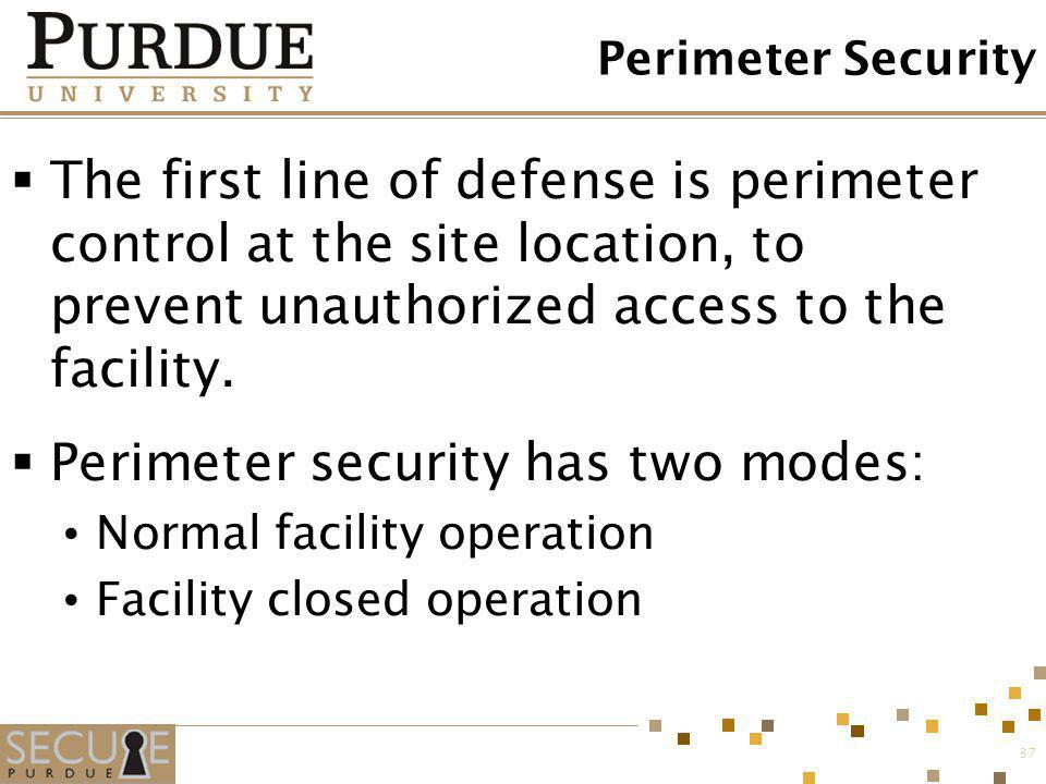 Perimeter security has two modes: