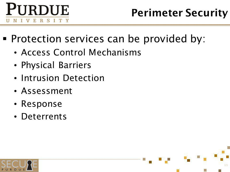 Protection services can be provided by: