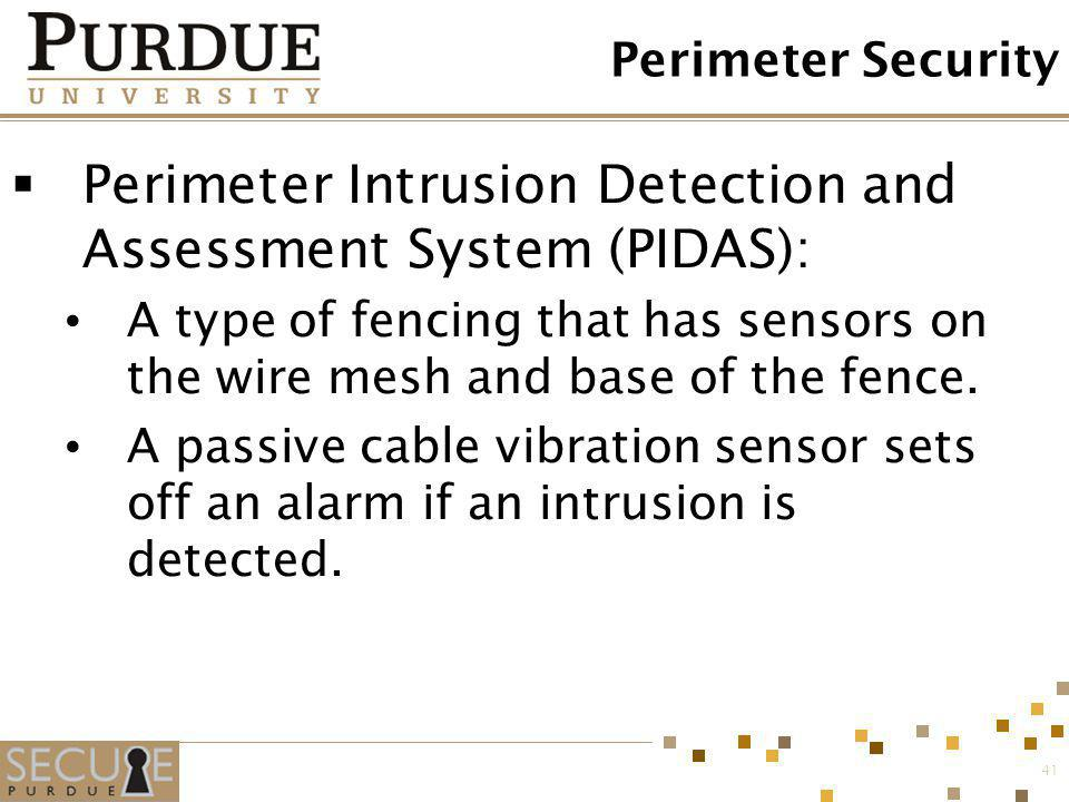 Perimeter Intrusion Detection and Assessment System (PIDAS):