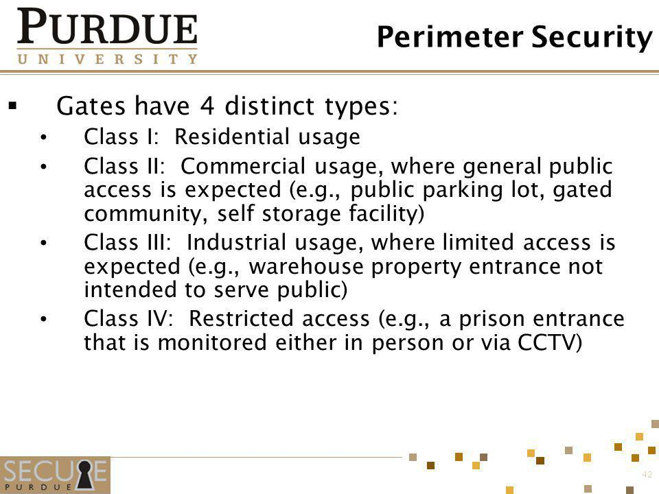 Perimeter Security Gates have 4 distinct types: