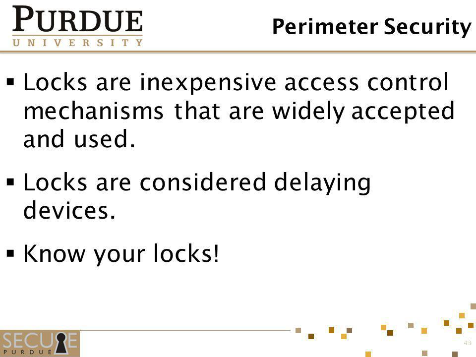 Locks are considered delaying devices.