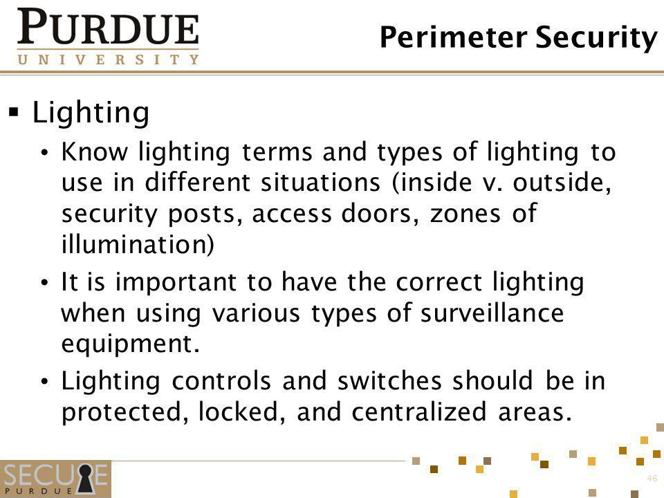 Perimeter Security Lighting