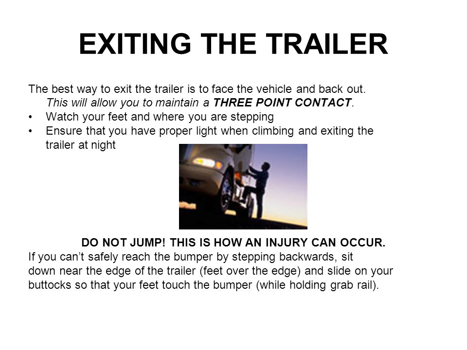 DO NOT JUMP! THIS IS HOW AN INJURY CAN OCCUR.