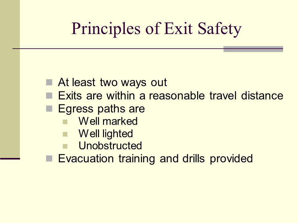 Principles of Exit Safety
