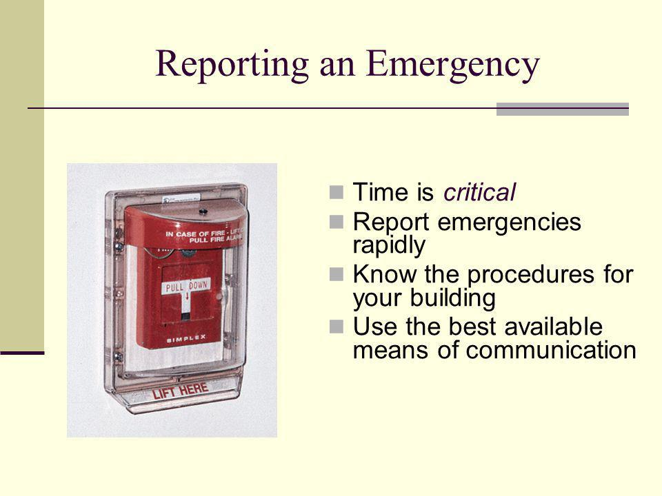Reporting an Emergency