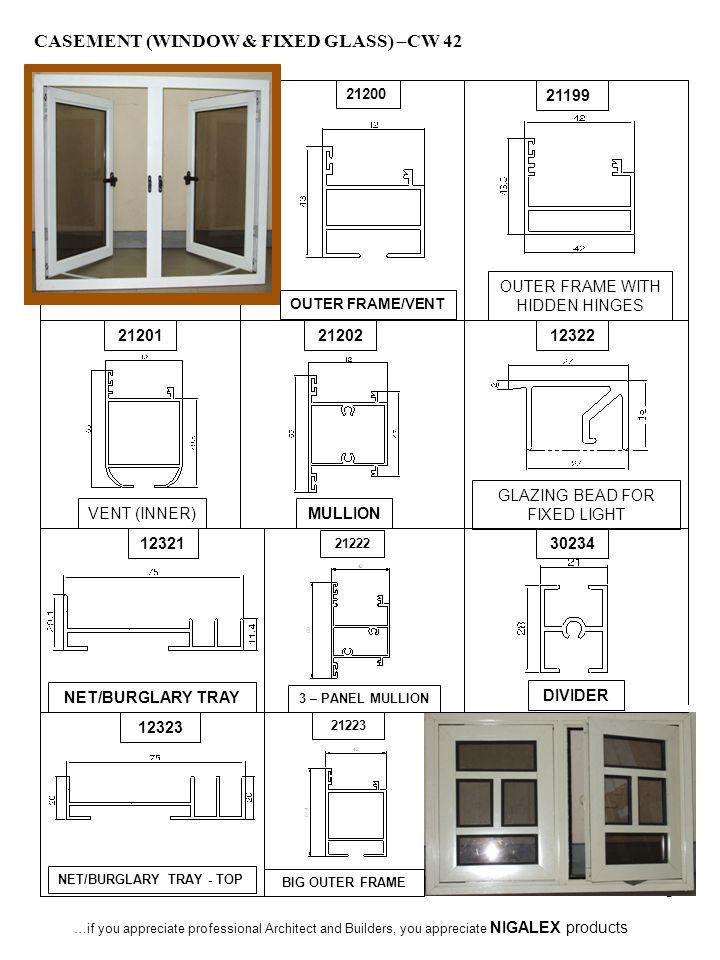 CASEMENT (WINDOW & FIXED GLASS) –CW 42