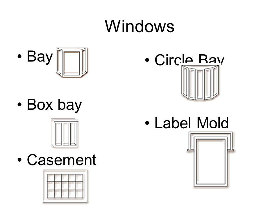 Windows Bay Box bay Casement Circle Bay Label Mold