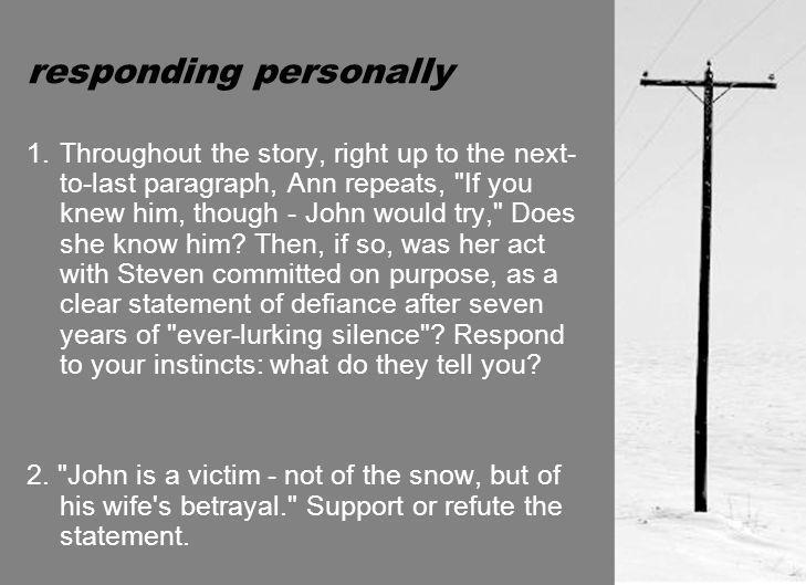 responding personally