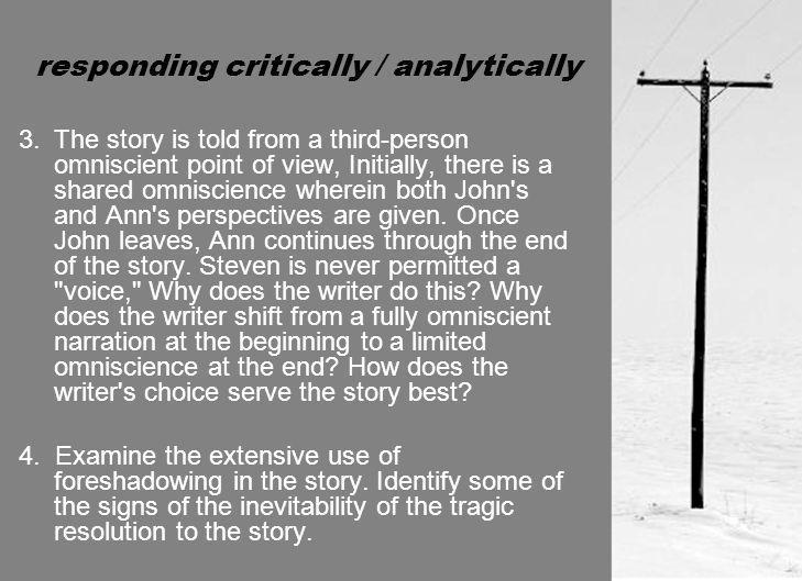 responding critically / analytically