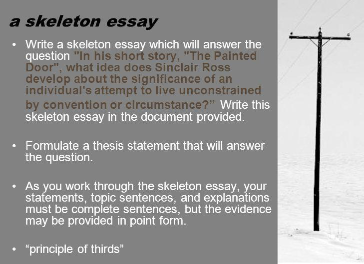 a skeleton essay