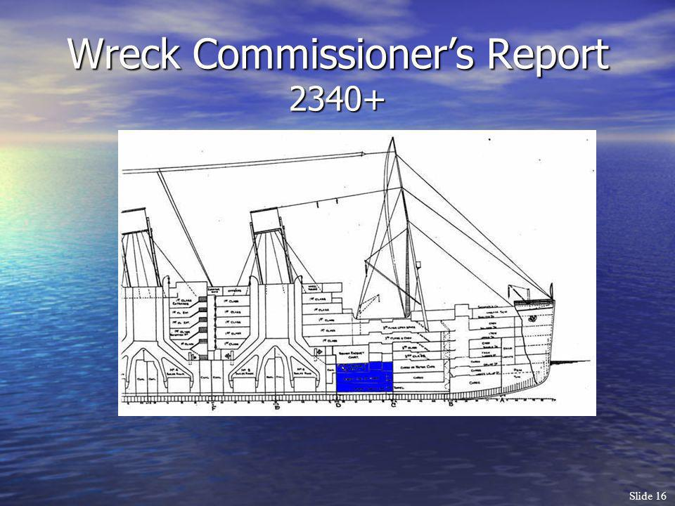 Wreck Commissioner's Report 2340+