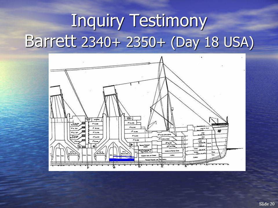 Inquiry Testimony Barrett 2340+ 2350+ (Day 18 USA)